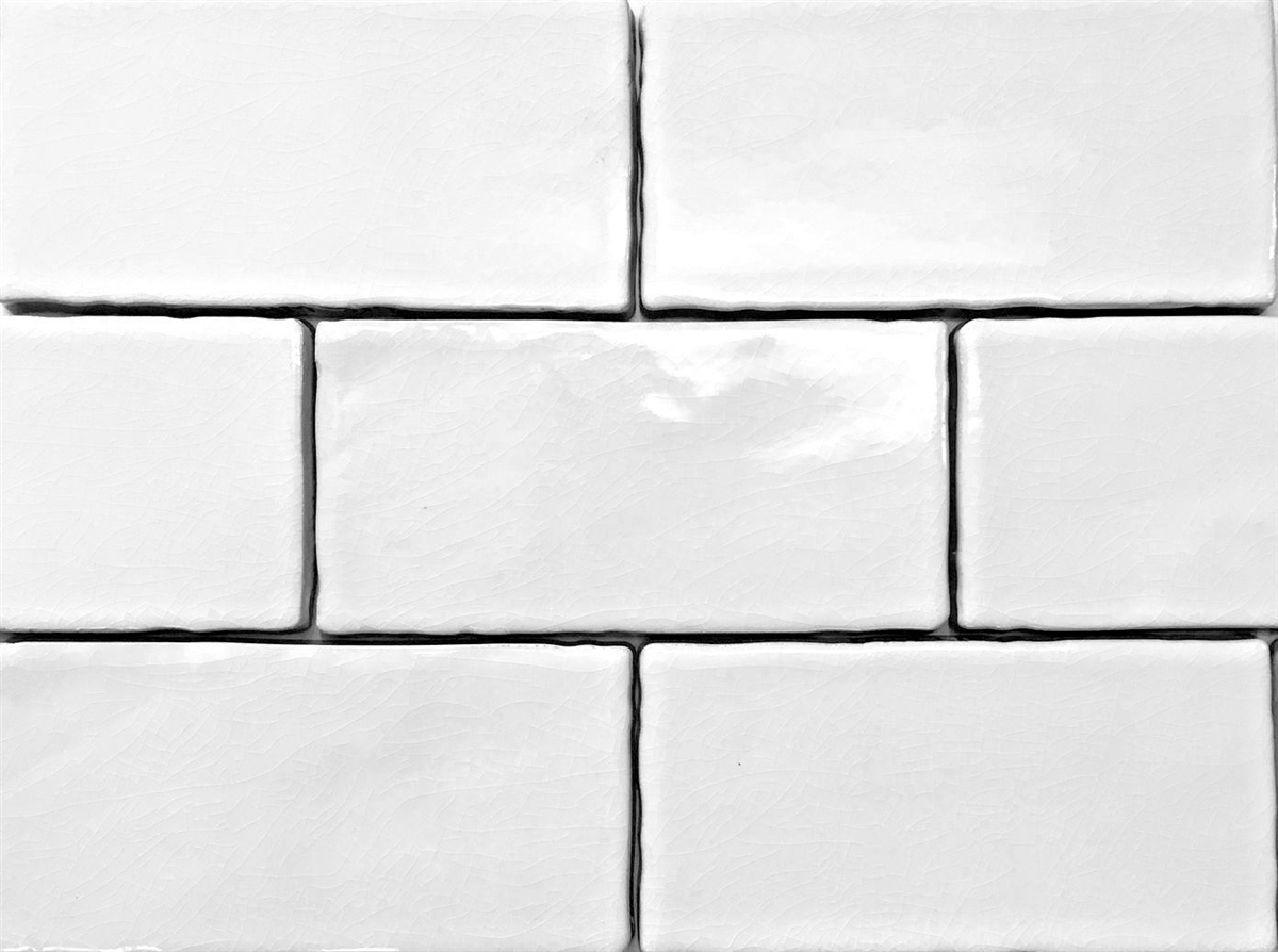 3x6 White Crackled Glaze Ceramic Tile Wall And Backsplash