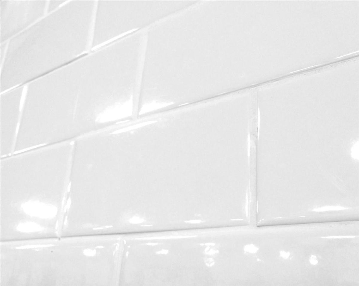 - White 3x6 Shiny Glossy Finish Ceramic Subway Tile