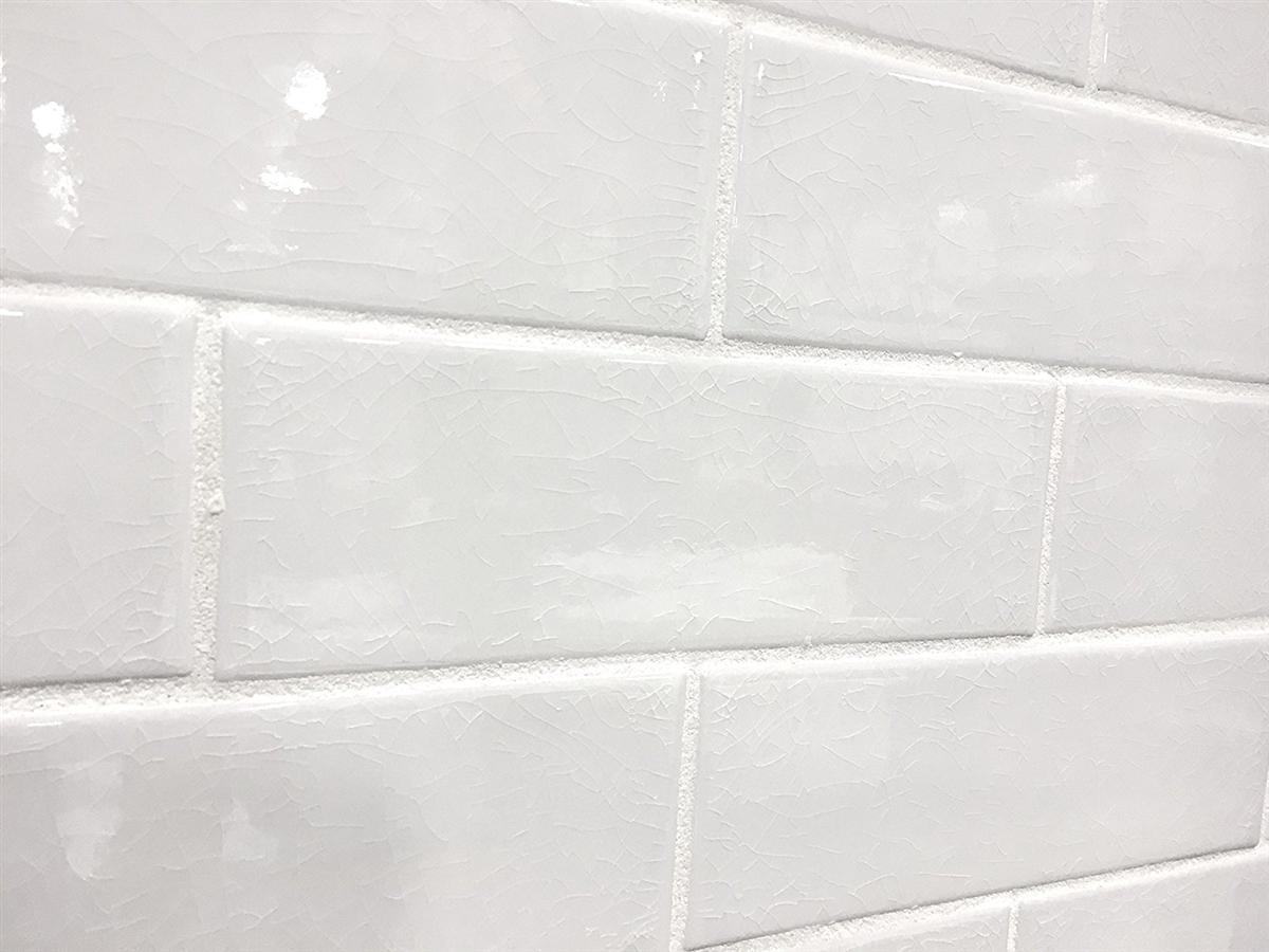 3x9 Vanilla Bean White Crackled Porcelain Tile