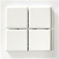 4x4 Essential White Matte Subway Ceramic Tile Kitchen Backsplash