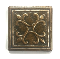 Four Corners Bronze Metallic 4x4 Resin Accent