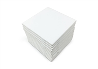 Set of 12 Glossy White Ceramic Tiles For Arts & Crafts 4x4 Backsplash