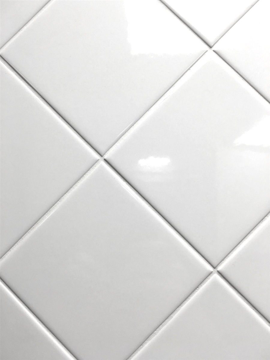 White 4x4 Shiny Glossy Finish Ceramic Tile