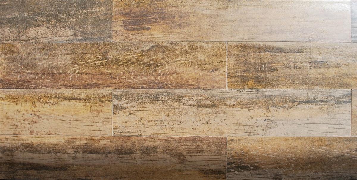 5x24 Rectified Wood Look Oak Porcelain Plank Field Floor Tile