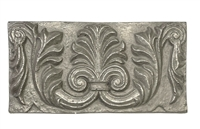 6x12 Firenze Silver Metallic Resin Decor Accent Art Craft Tile