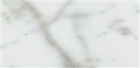Carrara White 6x12 Honed Straight Edge Marble Tile