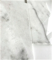 Carrara White 6x12 Polished Straight Edge Marble Tile