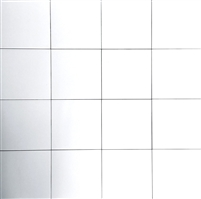 8.7 x 8.7 Cafe De Paris Matte White Porcelain Tile