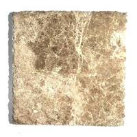 Emperador Light 8x8 Aged Finish Chiseled Edge Marble Floor Tile
