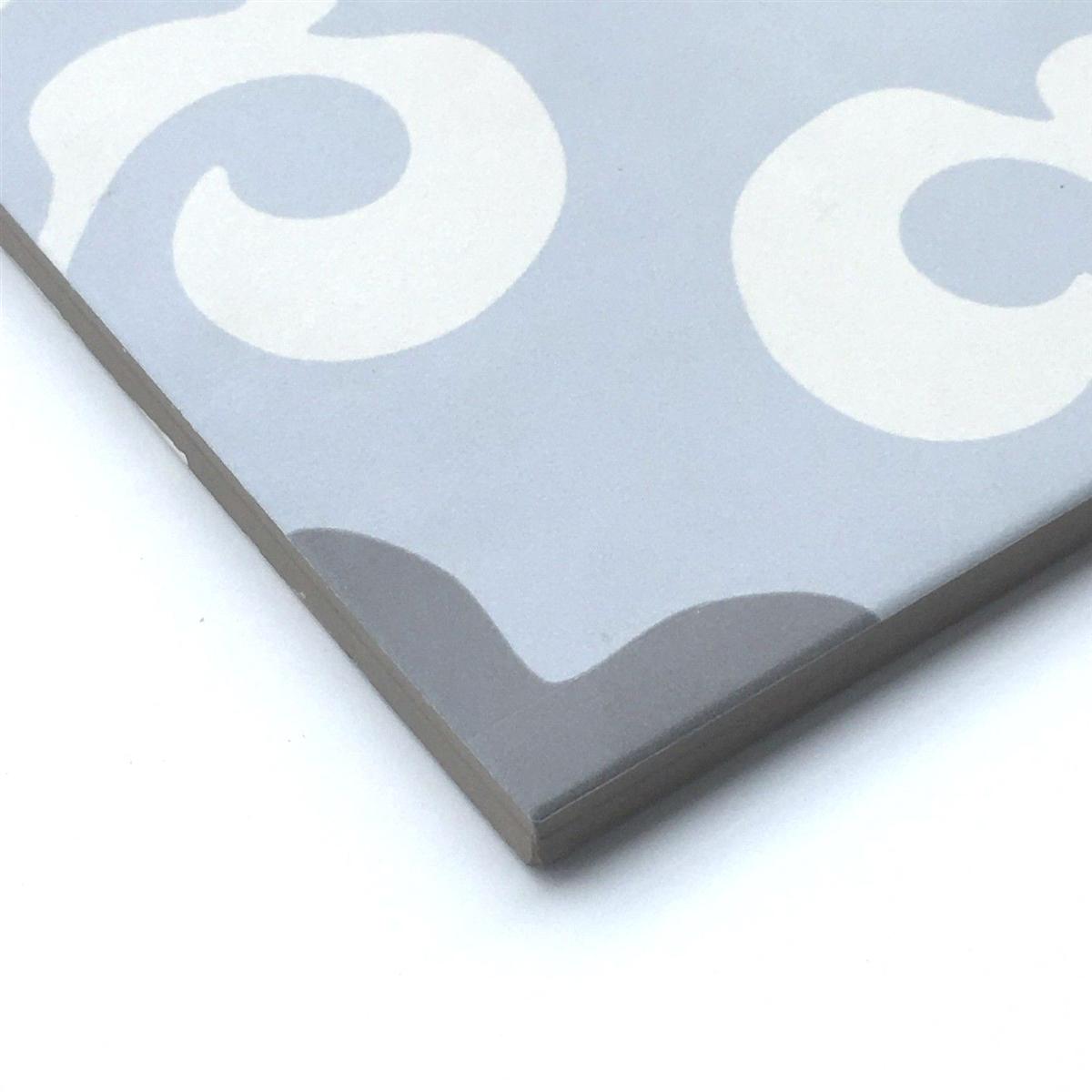 8x8 Parisienne Bleu Porcelain Patterned Floor Tile