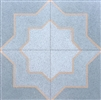 8X8 Star and Cross Matte Encaustic Cement Tile