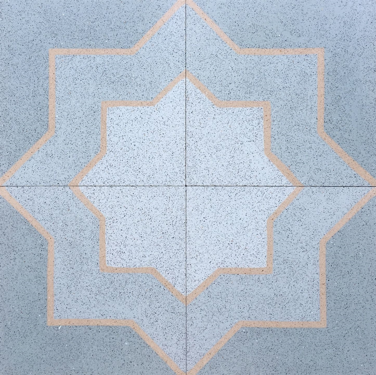 8x8 Star And Cross Matte Encaustic Cement Tile
