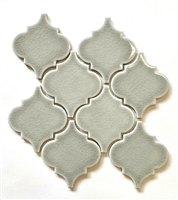 Arabesque Soft Green Crackled Finish Porcelain Mosaic Tile
