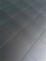 8.7 x 8.7 Cafe de Paris Satin Matte Black Porcelain Tile Floor Wall (BOX OF 10)