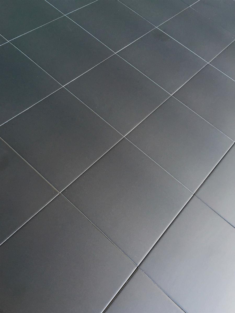 Satin Matte Black Porcelain Tile Floor