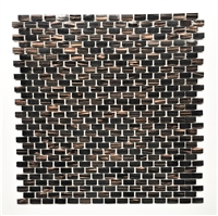 Mini Brick Copper Bronze Fleck Glimmer Glass Mosaic Tile
