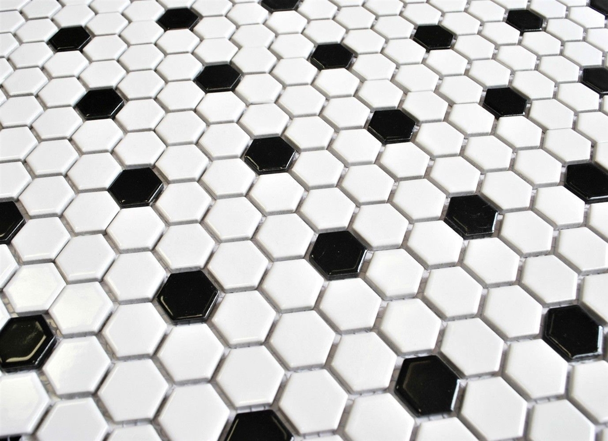 Mix Hexagon Porcelain Mosaic Tile