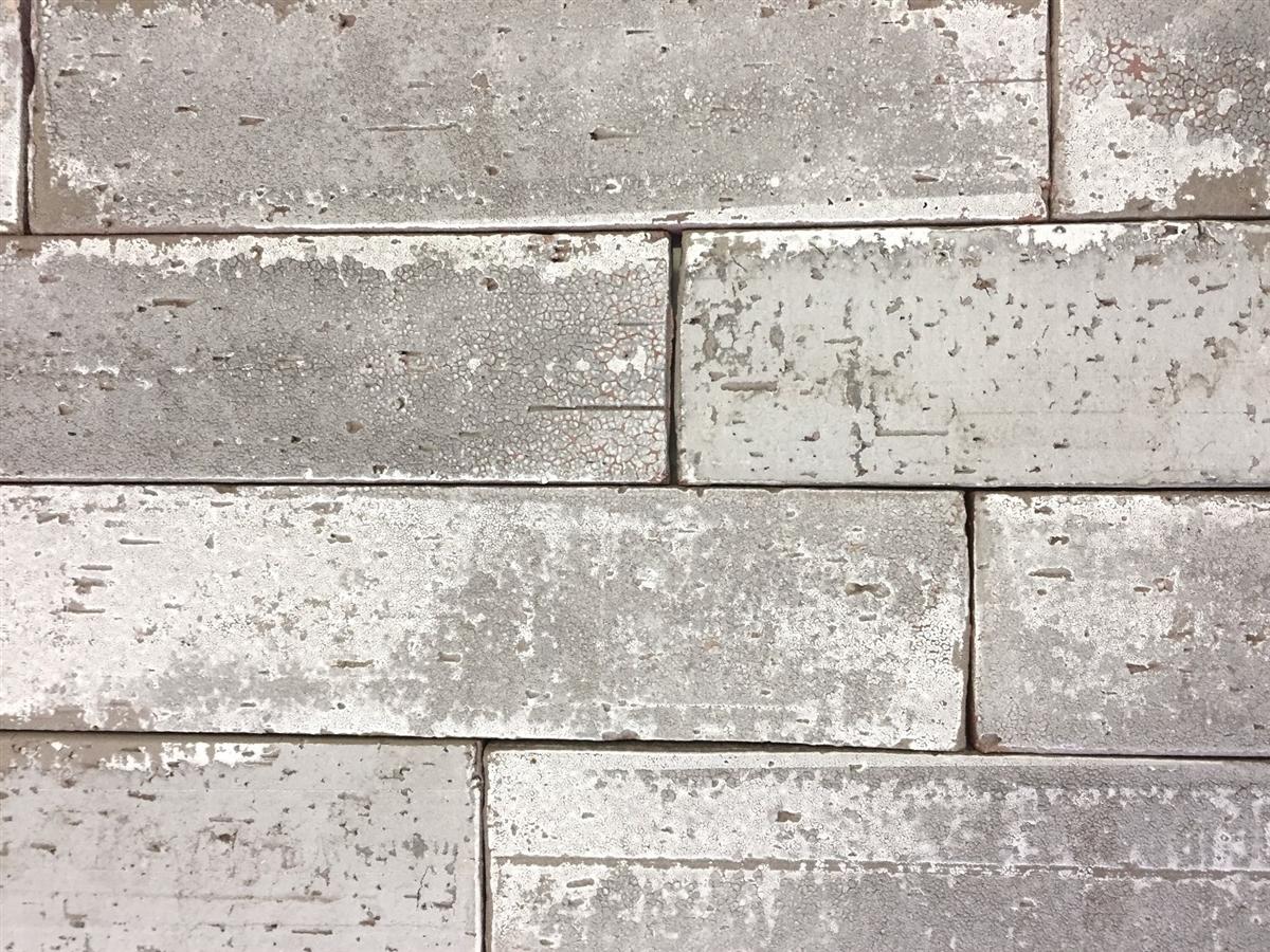 2.5x9.5 London Soft Gray Smoke Glazed Extruded Brick Wall Field Tile