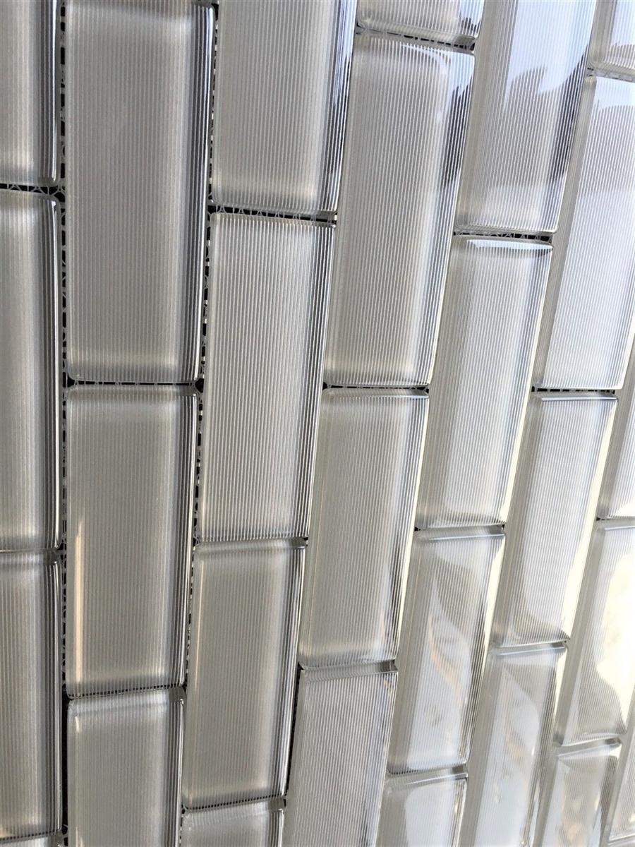 Mardi Gras 1 1 2 X 4 Toulouse Striped Glass Mosaic Wall Tile