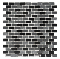 La Jacond Mini Brick Stone Glass Blend Mosaic Wall Tile