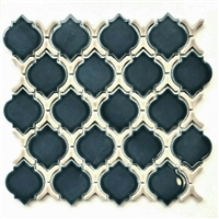 Deep Blue Glossy Moroccan Porcelain Mosaic Wall Tile