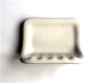 "Soap Dish Almond Ceramic Thinset Mount 6-1/2"" x 4-7/8"""