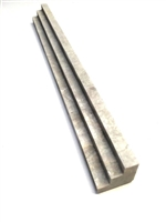 1x12 Silver Travertine Chair Rail Tri-Step Ogee Profile Trim Molding Wall Tile
