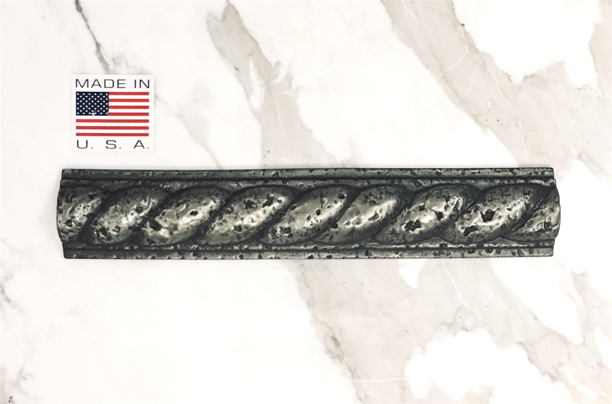 2x13 Roman Rope Metallic Silver Resin