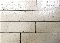 2.5x9.5 Vanilla Glossy Glazed Extruded Brick Tile