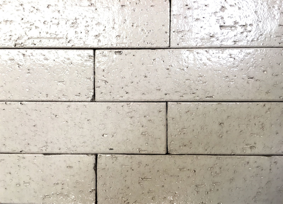 2 5x9 5 Vanilla Glossy Glazed Extruded Brick Tile