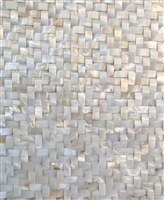White Mother of Pearl Shell Mosaic Tile Wavy Herringbone 12x12 Wall