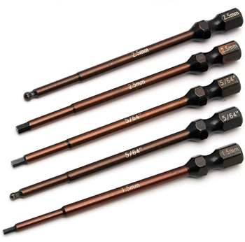 ASC1674 Associated Factory Team 5-Piece Power Tool Tips Set