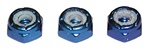 Associated 8-32 Blue Aluminum Low Profile Locknut. Thinner than #6943