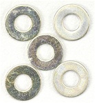 "Associated #4 Washer, .250 x .125 x .015"", steel"