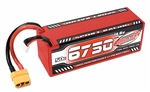 COR49430 6750mAh 14.8v 4S 50C Hardcase Sport Racing LiPo Battery with