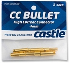 CSECCBUL553 Castle Creations 5.5mm Bullet Connectors