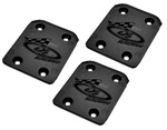DER107K DE Racing Inferno Rear Skid Plate for Kyosho Inferno MP7.5, MP777, ST-RR, VE, Neo, GT and GT2 - Package of 3