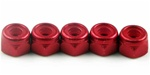 KYO1-N3043NA-R Kyosho Red Aluminum Nylon Nut M3x4.3mm - Package of 5