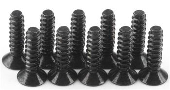 KYO1-S33012TP Kyosho Flat Head Self-Tapping Screw M3x12mm - Package of 10