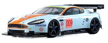 KYO31828B Kyosho Inferno GT2 Aston Martin DBR9 Team Gulf ReadySet On-Road RTR Nitro Car