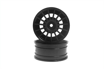 KYO92012BK Kyosho Aero 24 Wheel 15-Spoke in Black - Package of 2