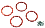 KYOEZW003R Kyosho EZ Series Red Aluminum Wheel Bead covers - Package of 4