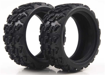 KYOFAT101 Kyosho EP Fazer Kobra Rally Block Tire - Package of 2