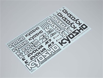 KYOFMD641 Kyosho Evolva M3 EVO Decal Set