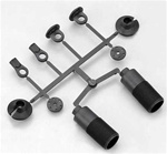KYOIF232-01 Kyosho Inferno Front Plastic Shock Parts Set for Neo and VE Race Spec