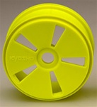 Kyosho Dish Wheels - Yellow - Hard