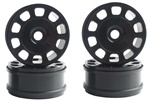 KYOIFH003BK Kyosho Inferno MP9 Black Slotted Wheels - Package of 4
