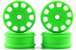 KYOIFH003KG Kyosho Inferno MP9 Green Slotted Wheels - Package of 4
