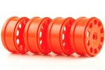 KYOIFH003KO Kyosho Inferno MP9 Orange Slotted Wheels - Package of 4