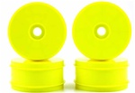 KYOIFH004KY Kyosho Inferno MP9 Dish Wheels Larger Diameter Yellow - Package of 4